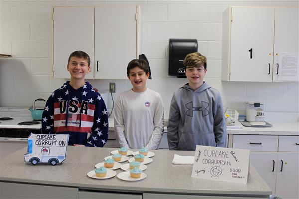 Mrs. Sommo's 8th Grade FAC classes first Cupcake Food Truck War